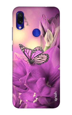 Purple Butterfly Xiaomi Redmi Note 7 Pro Cases & Covers Online