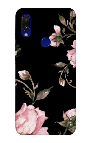 Pink Roses On Black Xiaomi Redmi 7 Cases & Covers Online