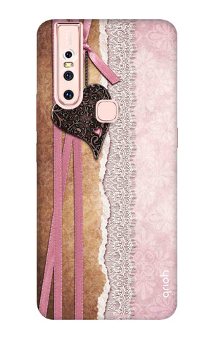 Heart in Pink Lace Vivo S1 Cases & Covers Online