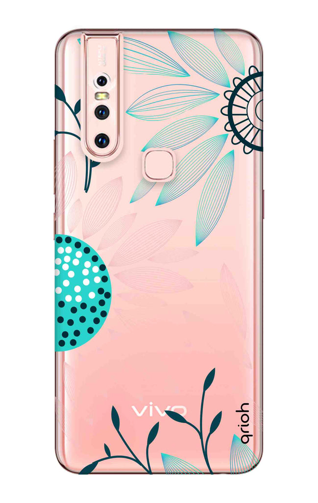 best sneakers f22b6 903c1 Pink And Blue Petals Case for Vivo S1