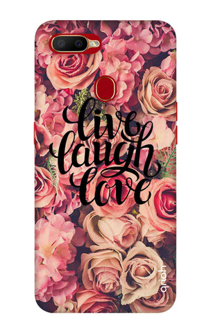 Floral Live, Laugh, Love Oppo A5s Cases & Covers Online