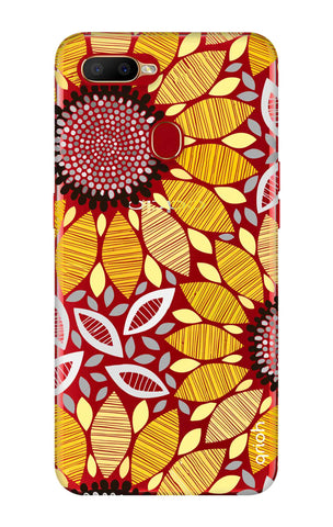 Stitched Floral Oppo A5s Cases & Covers Online