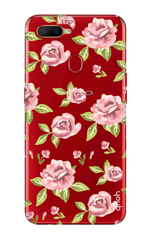 Elizabeth Era Floral Oppo A5s Cases & Covers Online