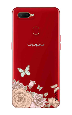 Flower And Butterfly Oppo A5s Cases & Covers Online