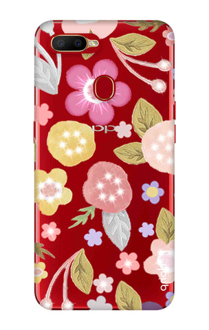 Multi Coloured Bling Floral Oppo A5s Cases & Covers Online