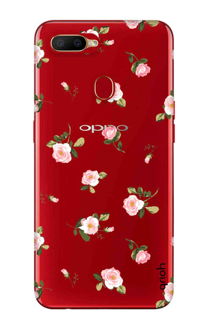 Pink Rose All Over Oppo A5s Cases & Covers Online