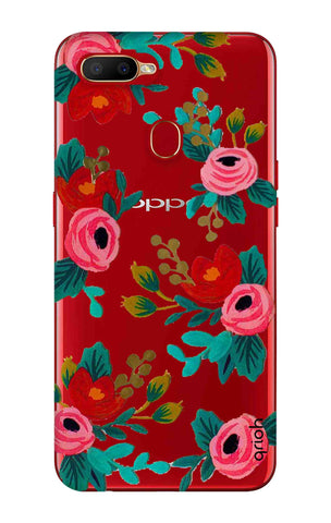 Red Floral Oppo A5s Cases & Covers Online