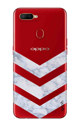 Marble Chevron Oppo A5s Cases & Covers Online