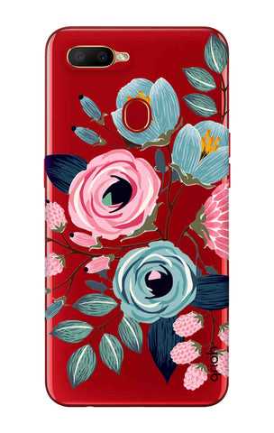 Pink And Blue Floral Oppo A5s Cases & Covers Online