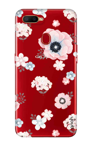 Beautiful White Floral Oppo A5s Cases & Covers Online