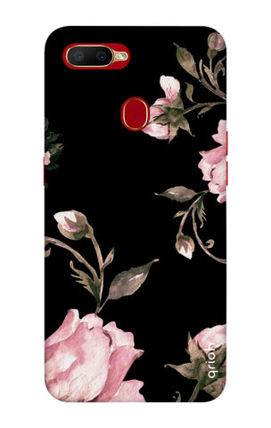Pink Roses On Black Oppo A5s Cases & Covers Online