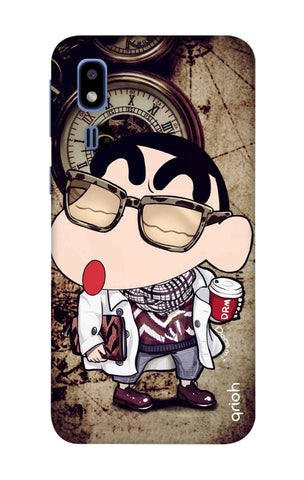 Nerdy Shinchan Samsung Galaxy A2 Core Cases & Covers Online
