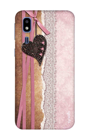Heart in Pink Lace Samsung Galaxy A2 Core Cases & Covers Online