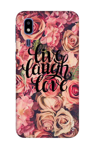 Floral Live, Laugh, Love Samsung Galaxy A2 Core Cases & Covers Online