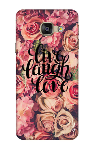Floral Live, Laugh, Love Samsung A7 2016 Cases & Covers Online