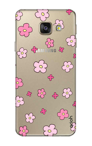 Pink Flowers All Over Samsung A7 2016 Cases & Covers Online