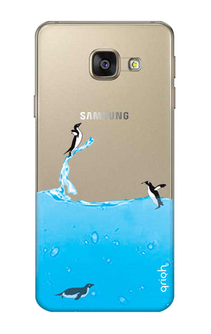 Penguins In Water Samsung A7 2016 Cases & Covers Online