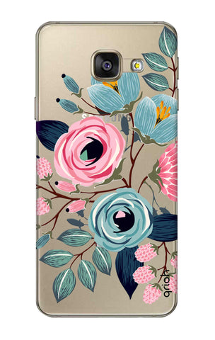 Pink And Blue Floral Samsung A7 2016 Cases & Covers Online