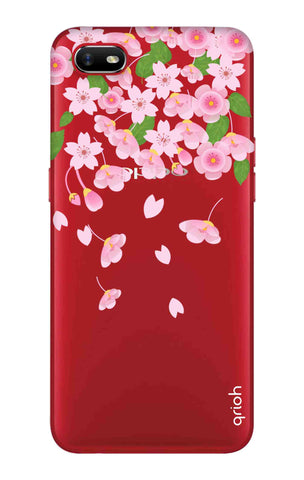 Pretty Pink Floral Oppo A1k Cases & Covers Online