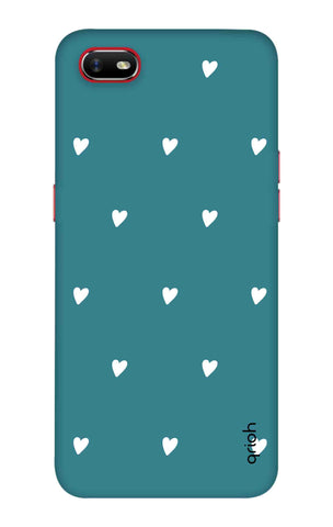Mini White Hearts Case Oppo A1k Cases & Covers Online