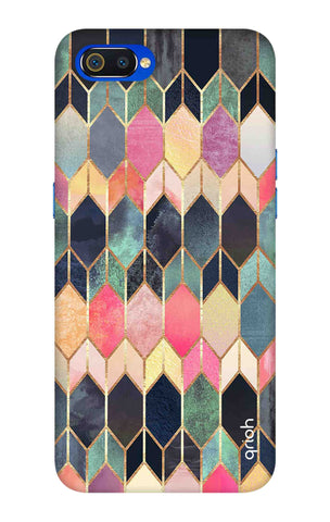 Colourful Brick Pattern Case Oppo Realme C2 Cases & Covers Online