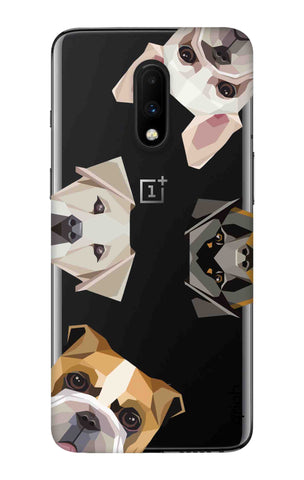 Geometric Dogs OnePlus 7 Cases & Covers Online