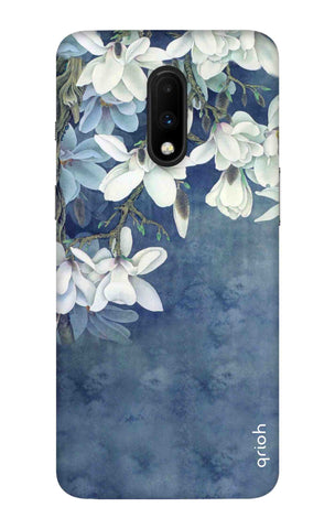 White Flower OnePlus 7 Cases & Covers Online