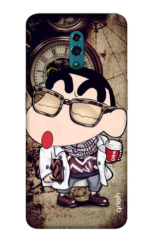 Nerdy Shinchan Oppo Reno Cases & Covers Online