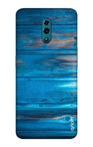 Blue Wooden Oppo Reno Cases & Covers Online