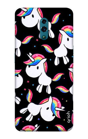 Colourful Unicorn Oppo Reno Cases & Covers Online
