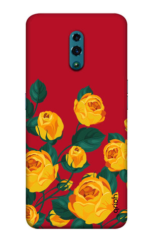 Yellow Floral Case Oppo Reno Cases & Covers Online
