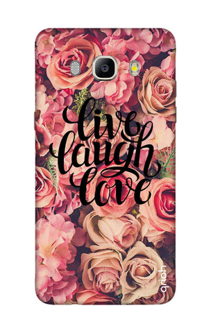 Floral Live, Laugh, Love Samsung J5 2016 Cases & Covers Online