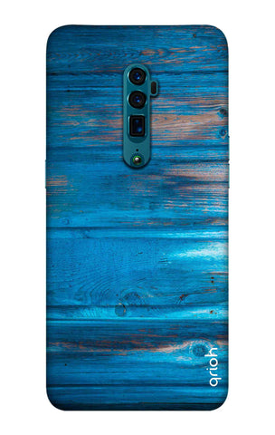 Blue Wooden Oppo Reno 10X Zoom Cases & Covers Online