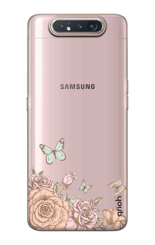 Flower And Butterfly Samsung Galaxy A80 Cases & Covers Online