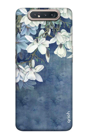 White Flower Samsung Galaxy A80 Cases & Covers Online