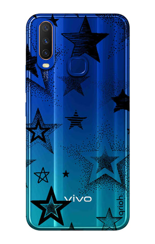 Black Stars Vivo Y15 2019 Cases & Covers Online