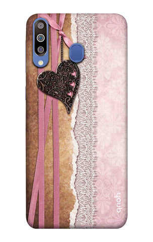 Heart in Pink Lace Samsung Galaxy M40 Cases & Covers Online