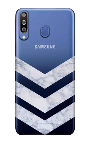 Marble Chevron Samsung Galaxy M40 Cases & Covers Online