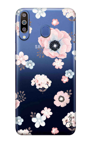 Beautiful White Floral Samsung Galaxy M40 Cases & Covers Online