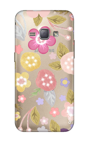 Multi Coloured Bling Floral Samsung J1 2016 Cases & Covers Online