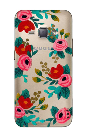Red Floral Samsung J1 2016 Cases & Covers Online