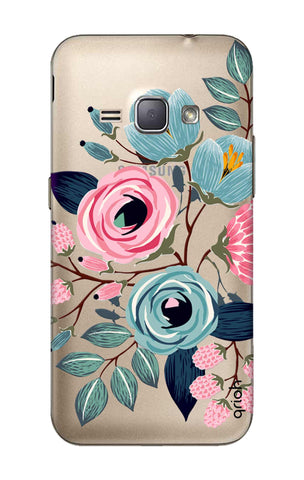 Pink And Blue Floral Samsung J1 2016 Cases & Covers Online