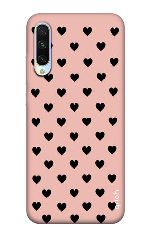 Black Hearts On Pink Xiaomi Mi A3 Cases & Covers Online
