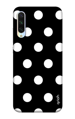White Polka On Black Xiaomi Mi CC9 Cases & Covers Online