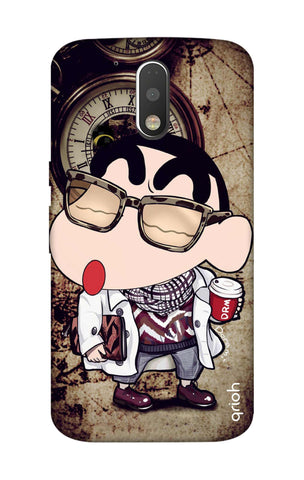 Nerdy Shinchan Motorola Moto G4 Plus Cases & Covers Online