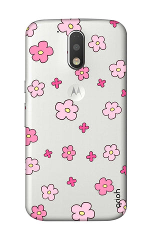 Pink Flowers All Over Motorola Moto G4 Plus Cases & Covers Online
