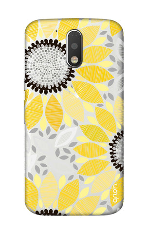 Stitched Floral Motorola Moto G4 Plus Cases & Covers Online