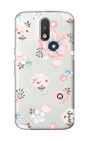 Beautiful White Floral Motorola Moto G4 Plus Cases & Covers Online