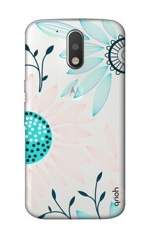 Pink And Blue Petals Motorola Moto G4 Plus Cases & Covers Online