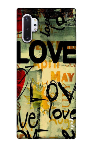 Love Text Samsung Galaxy Note 10 Plus Cases & Covers Online